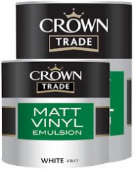 'Farba biała  CROWN TRADE  MATT EMULSION VINYL WHITE 5L