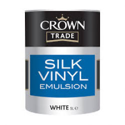 'Farba biała CROWN TRADE  SILK EMULSION WHITE 5L