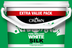 'Farba biała CROWN TRADE SILK EMULSION BRILLIANT WHITE 5L